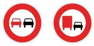 les 2 panneaux d'interdition  de Doubler
